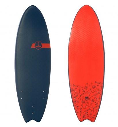 "Surfplank Softjoy Kapitein Beubar 5'6"""