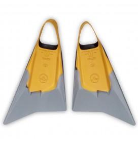 Pé de pato bodyboard Pride Vulcan V2 Amarelo/Cinza