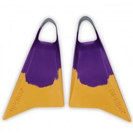 Palmes de bodyboard Pride Vulcan V2 Violet/Jaune