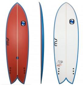 Surfboard Retro Fish MS Black Bass