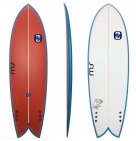 Tavola da surf Retrò Pesce MS Black Bass