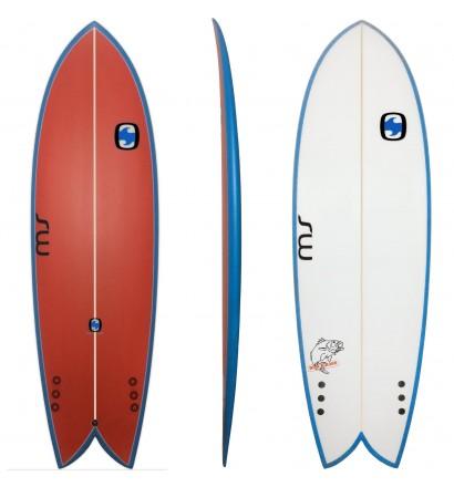 Tabla de surf Retro Fish MS Black Bass