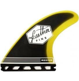 Quilhas surf Feather Fins Fiberglass Yellow & Black