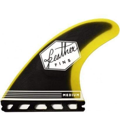 Quillas Feather Fins Fiberglass Yellow & Black