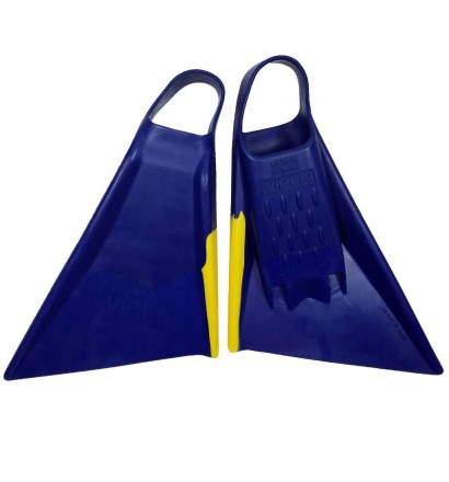 Pé de pato Bodyboard Viper Delta 2.0 Azul/Amarelo