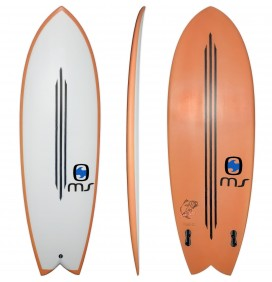 Surfboard Retro Fish MS Black Bass