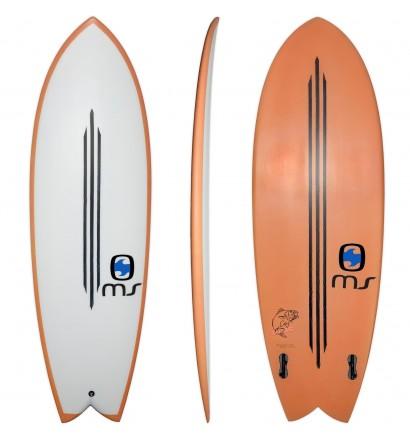 Prancha de surf Retro Fish MS Black Bass