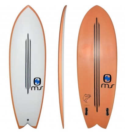 Tavola da surf Retro Fish MS Black Bass