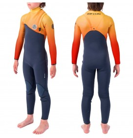 Wetsuit Rip Curl Flash-Bom 4/3mm Zip Free Junior