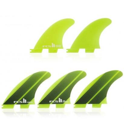 Quilhas surf tri-quad FCSII Carver Neo Glass