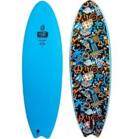 Surfboard softboard Ocean & Earth EZI-Rider Fish Hippy Skull (OP VOORRAAD)