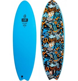 Tavola da surf softboard Ocean & Earth EZI-Rider Fish Hippy Skull (IN STOCK)