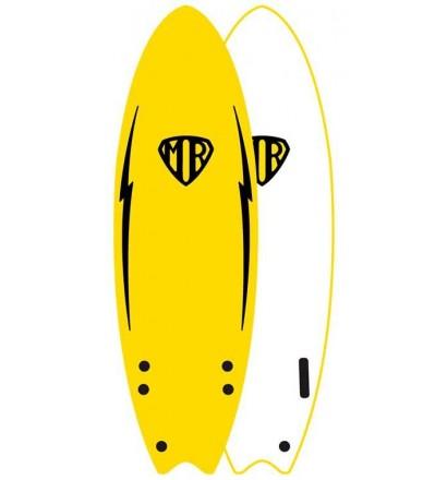 Surfbrett softboard Ocean & Earth MR Twin Fin