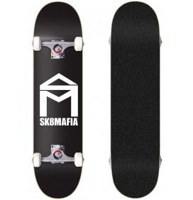 Skateboard SK8MAFIA House Logo Black 7,75''