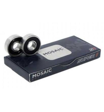 Rolamentos de skateboard Mosaic Super 1 ABEC 7 608RS Black