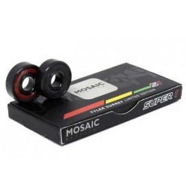 Rolamentos de skateboard Mosaic Super 1 Tyler Surrey ABEC 7 608RiRS Black