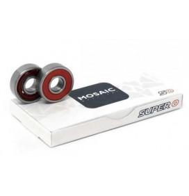 Rolamentos de skateboard Mosaic Super 0 ABEC 5 608RS Red