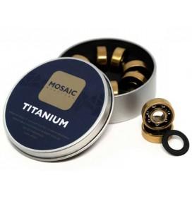 Rolamentos de skateboard Mosaic Titanium 1 ABEC 7 608RS Black