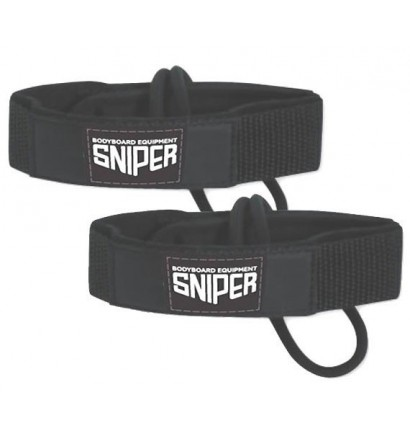 Leash de palmes de bodyboard Sniper deluxe fin tethers