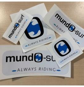 Mundo-Surf Witte achtergrondstickers