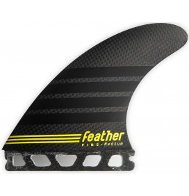 Ailerons de surf Feather Fins C-1 Full Carbon Single Tab