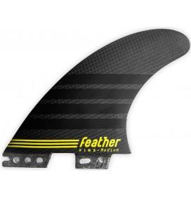 Ailerons de surf Feather Fins C-1 Full Carbon Click Tab
