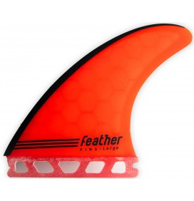 Quilhas surf Feather Fins Gony Zubizarreta Red Core Single Tab