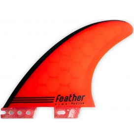 Quilhas surf Feather Fins Gony Zubizarreta Red Core Click Tab