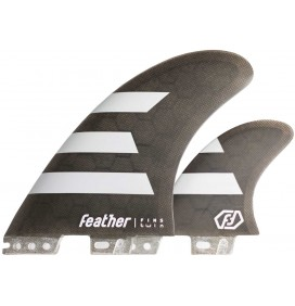 Ailerons de surf Feather Twin Fin 2+1 Click Tab