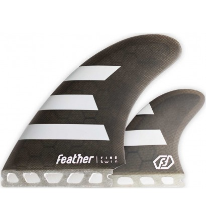Quilhas surf Feather Twin Fin 2+1 Single Tab
