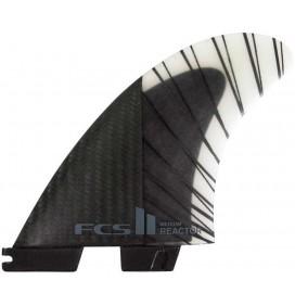 Ailerons de surf FCS2 Reactor PC Carbon