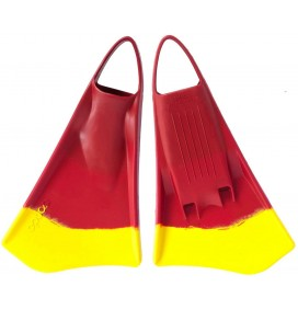 Option bodyboard fins MK2 Red/Yellow