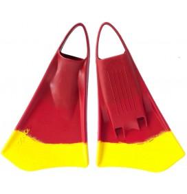 Palmes de bodyboard Option MK2 Rouge/Jaune