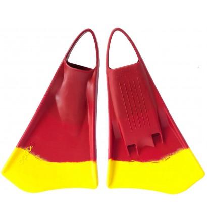 Option bodyboard fins MK2 Red/Yellow