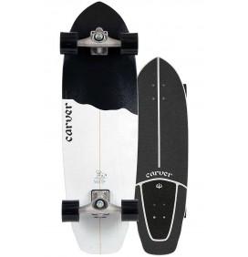 surfskate Carver Black Tip 32,5'' Cx