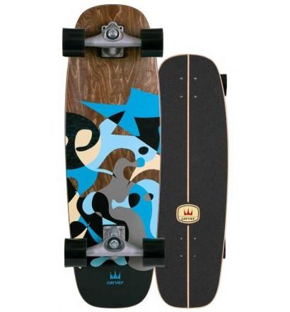 Planche de surfskate Carver Blue Ray 30'' Cx