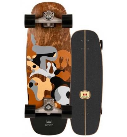 Prancha de surfskate Carver Gray Ray 27,5'' Cx