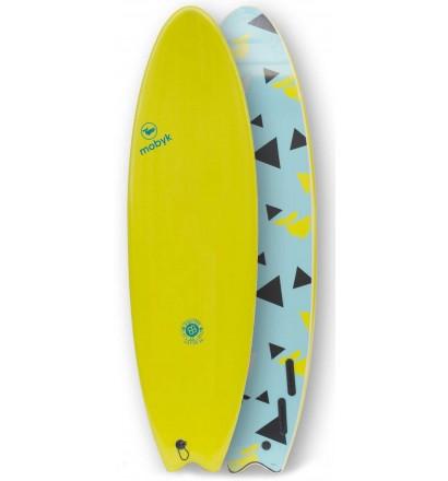 Prancha de surf softboard Mobyk Fish Quad