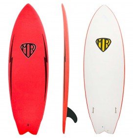 Tavola da surf softboard Ocean & Earth MR Twin Fin Epoxy-Soft