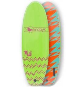 Prancha de surf softboard Mobyk twin fin 4'10''