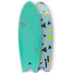Surfbrett softboard Mobyk Old School 5'8''