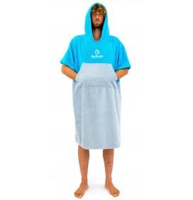 Poncho asciugamano Surf Logic Cyan & Grey