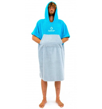 Poncho handtuch Surf Logic Cyan & Grey