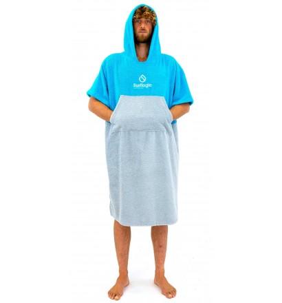 Poncho toalla Surf Logic Cyan & Grey
