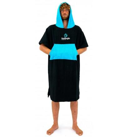 Poncho Surf LogicBlack & Cyan