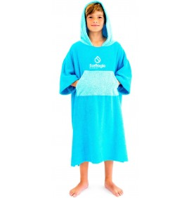 Poncho Junior Surf Logic Cyan & Turquoise
