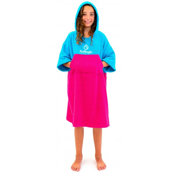 Imagén: Poncho Junior Surf Logic Cyan & Pink