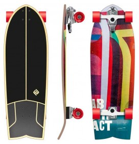 surfskate Flying Wheels Abstract 32''