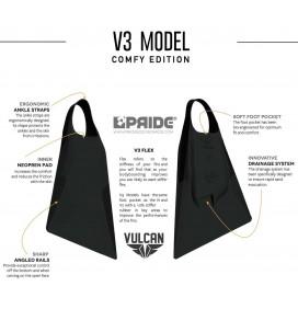 Pé de pato bodyboard Pride Vulcan V3 Preto Comfy Edition