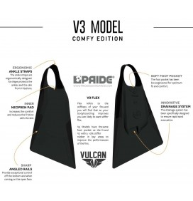 Pride Vulcan V3 Black Fins Comfy Edition